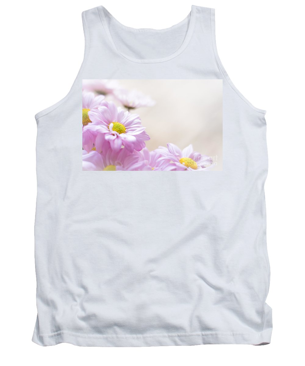 Tank Top featuring the photograph Soft Pink Daisies by Cheryl Baxter