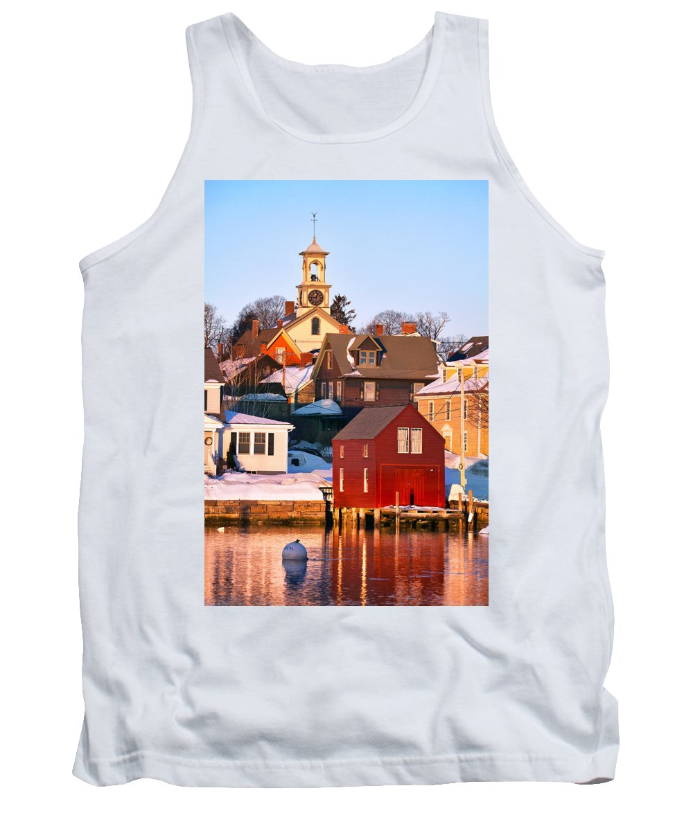 Portsmouth Tank Top featuring the photograph South End Boathouse by Eric Gendron