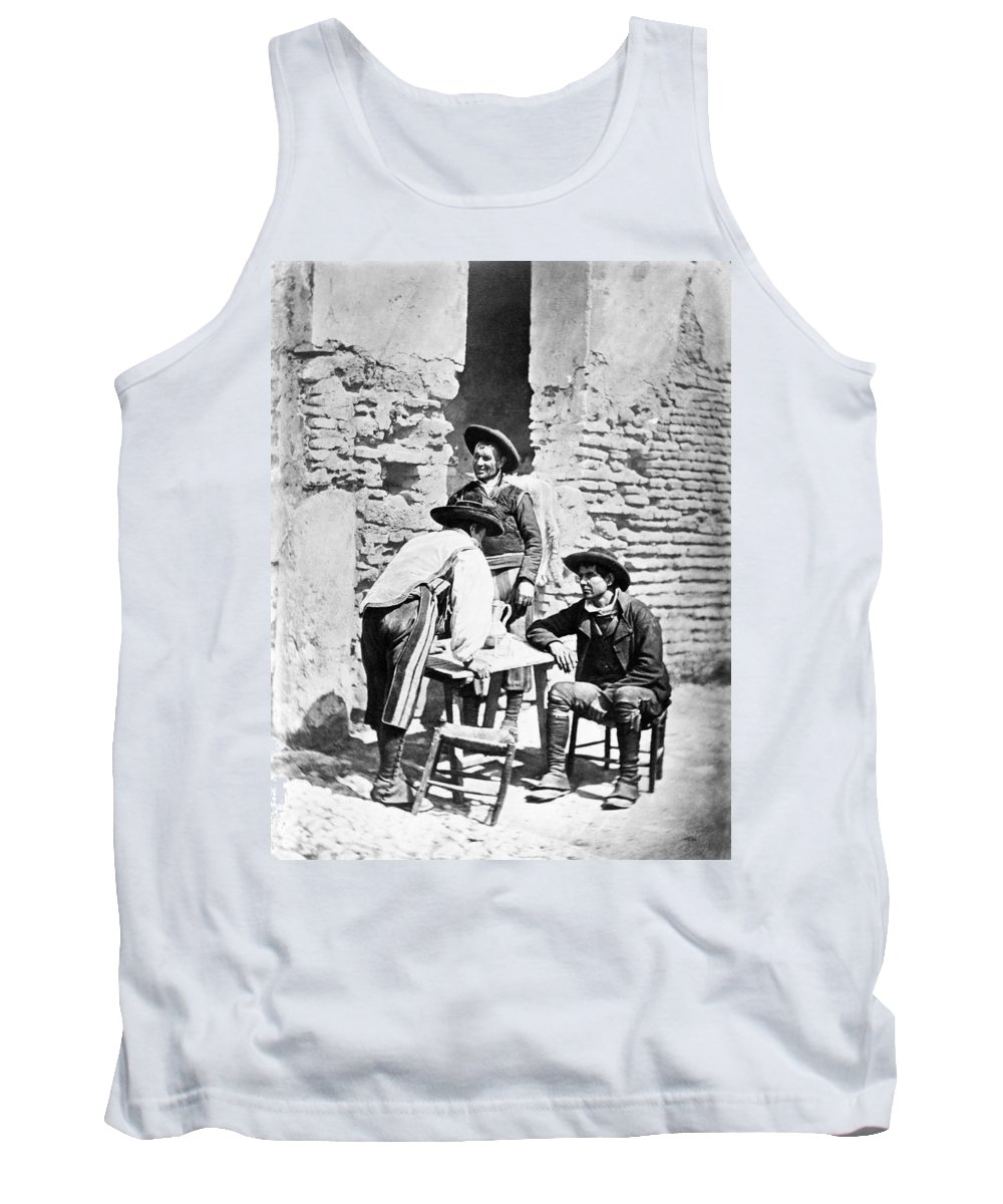 1875 Tank Top featuring the photograph Spain Cowboys, C1875 by Granger