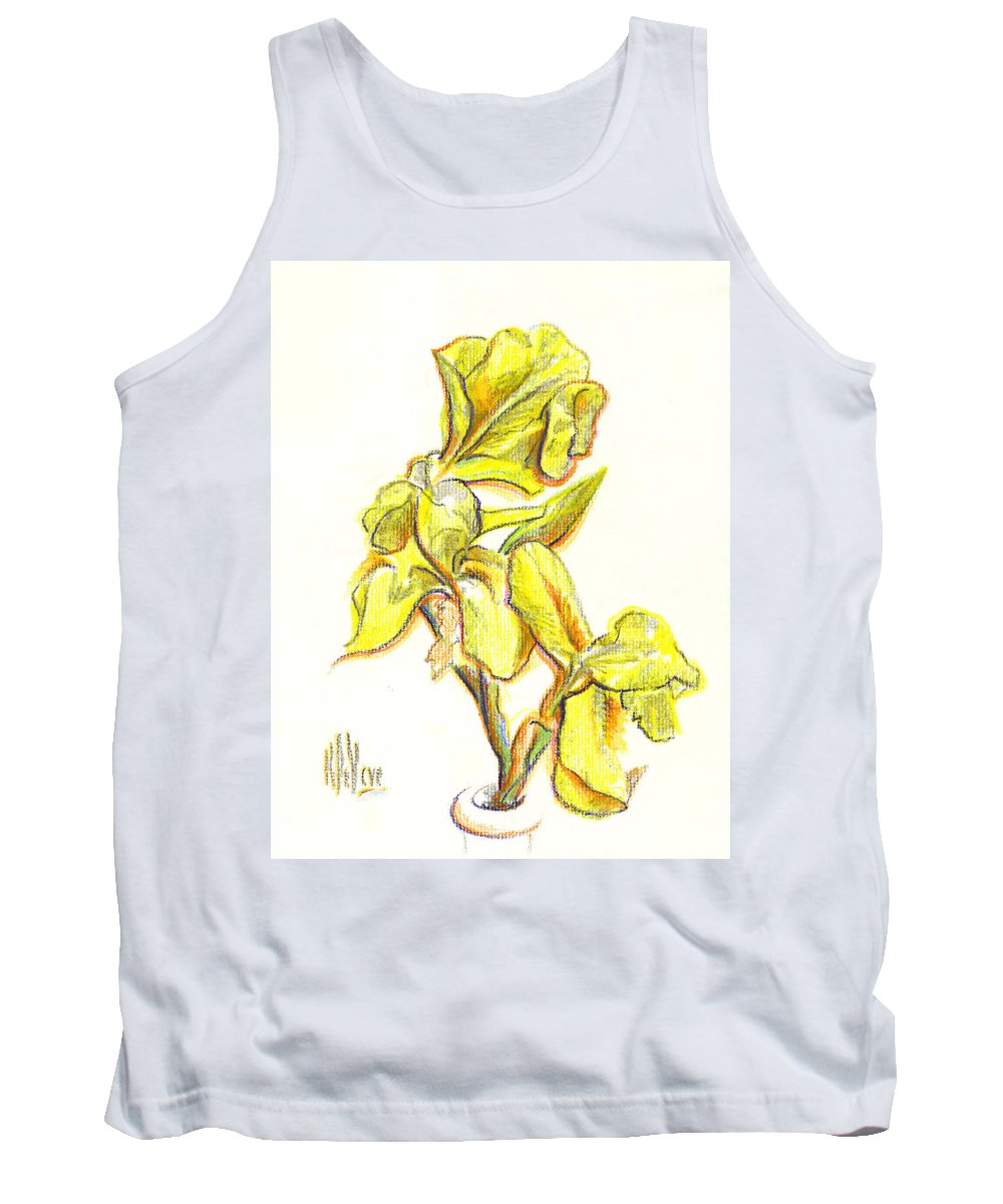 Spanish Irises Tank Top featuring the painting Spanish Irises by Kip DeVore