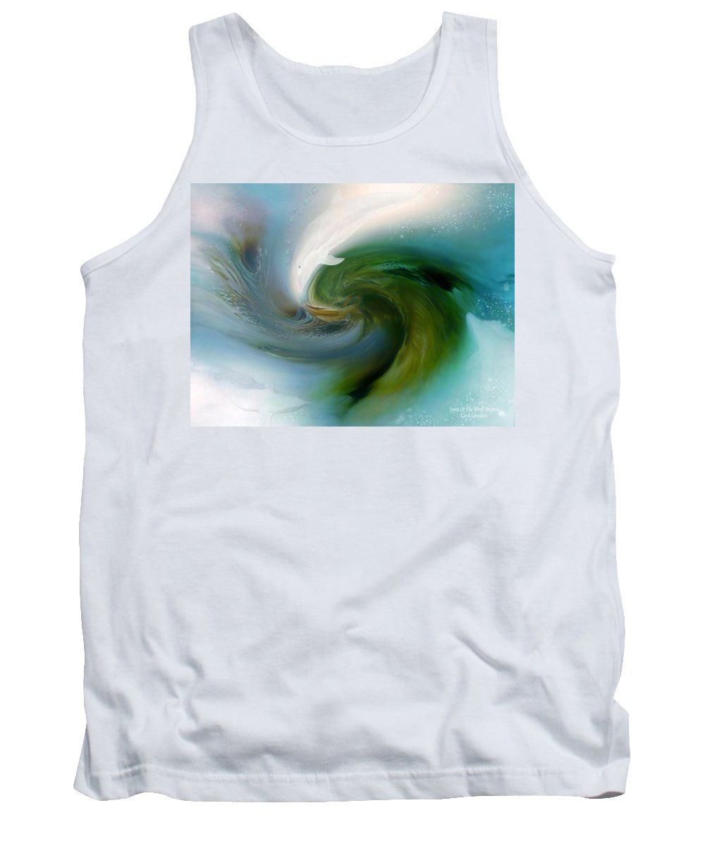 White Dolphin Tank Top featuring the mixed media Spirit Of The White Dolphin by Carol Cavalaris