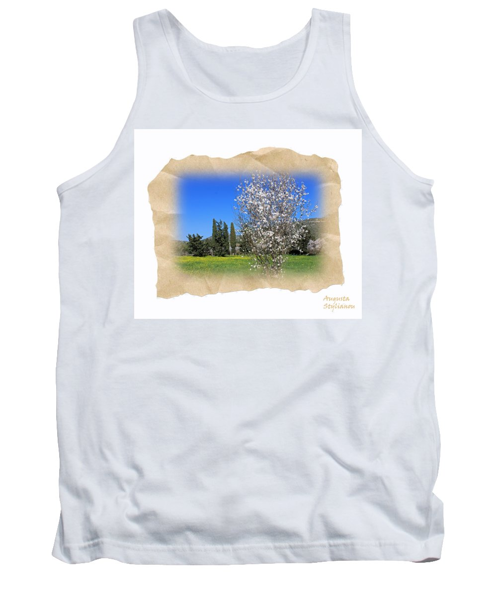Augusta Stylianou Tank Top featuring the photograph Spring In The Paper by Augusta Stylianou