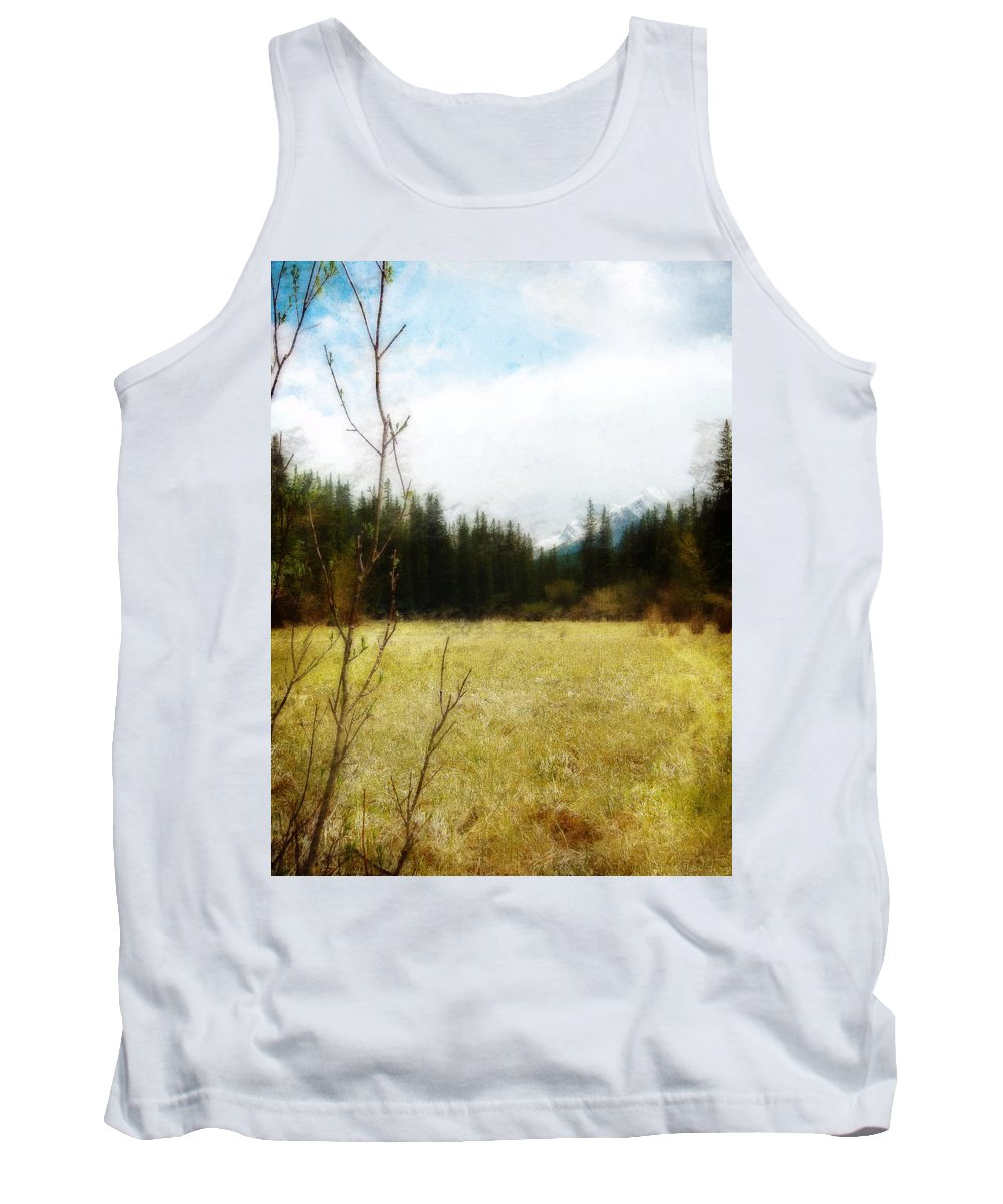 Field Tank Top featuring the photograph Springtime In The Mountains by Jo-Anne Gazo-McKim