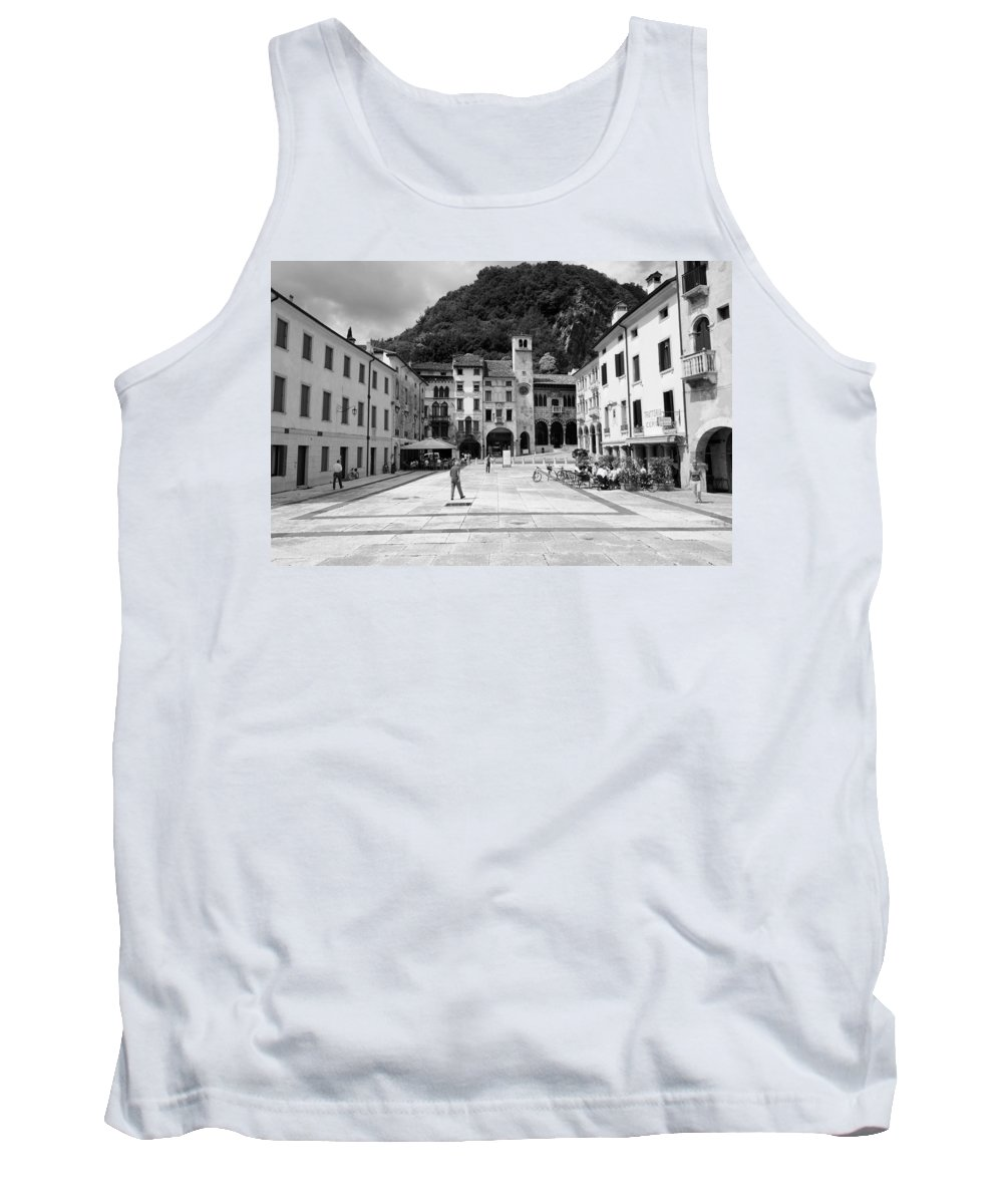 Square Tank Top featuring the photograph Square In The Summer by Salvatore Gabrielli