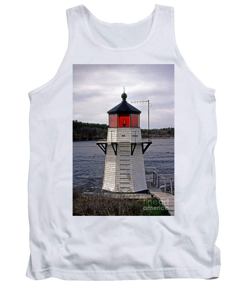 Lighthouses Tank Top featuring the photograph Squirrel Point by Skip Willits