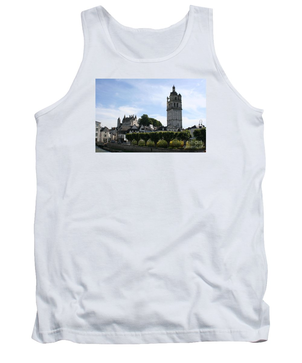 View Tank Top featuring the photograph St. Antoine Tower And The Chateau De Loches by Christiane Schulze Art And Photography