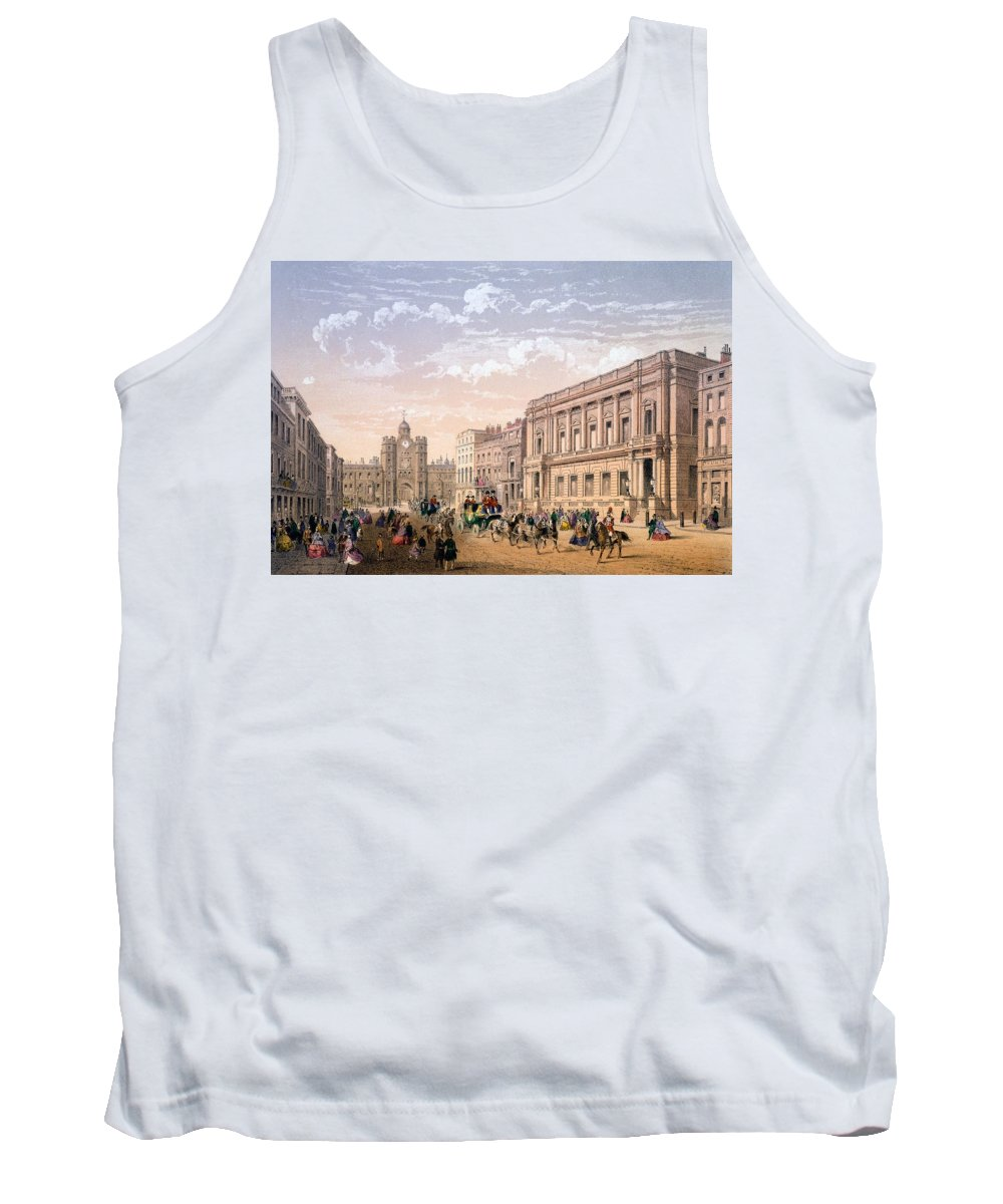 St James Palace Tank Top featuring the drawing St James Palace And Conservative Club by Achille-Louis Martinet