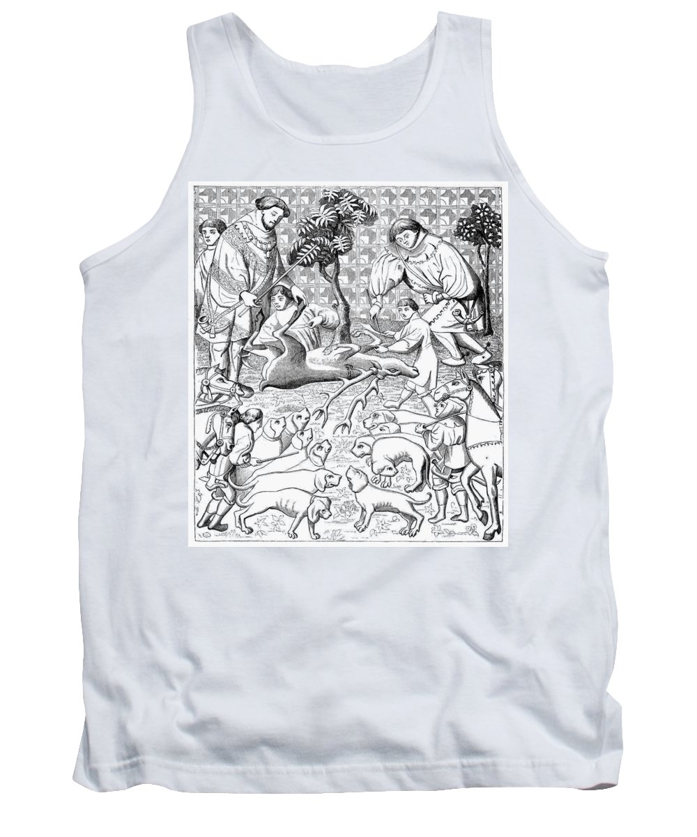 15th Century Tank Top featuring the painting Stag Hunters, 15th Century by Granger