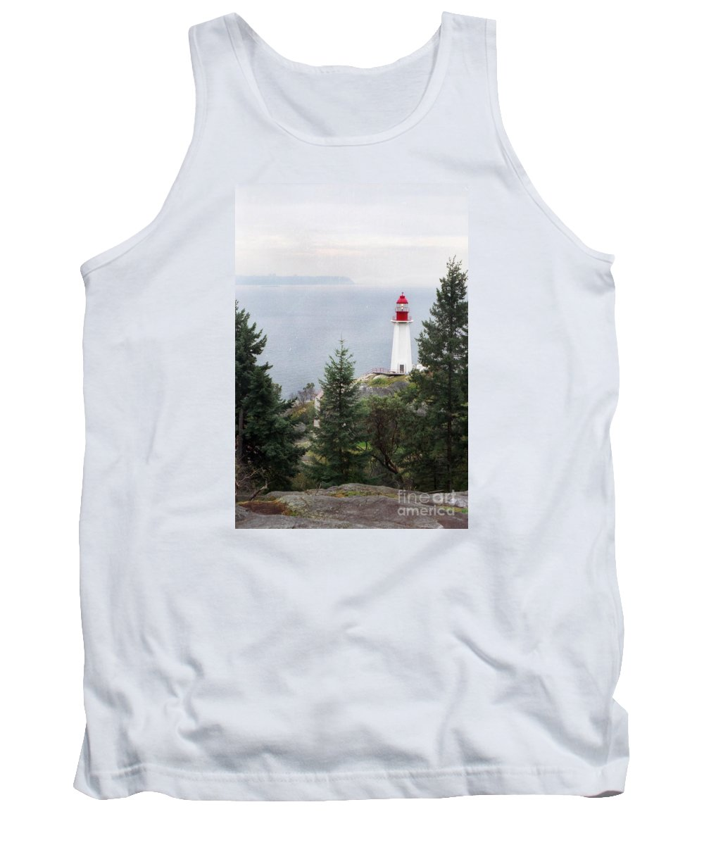Lighthouse Tank Top featuring the photograph Standing Guard by Vivian Martin