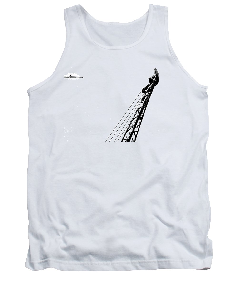 Hawk Tank Top featuring the photograph Stare Contest II by Steve Harrington