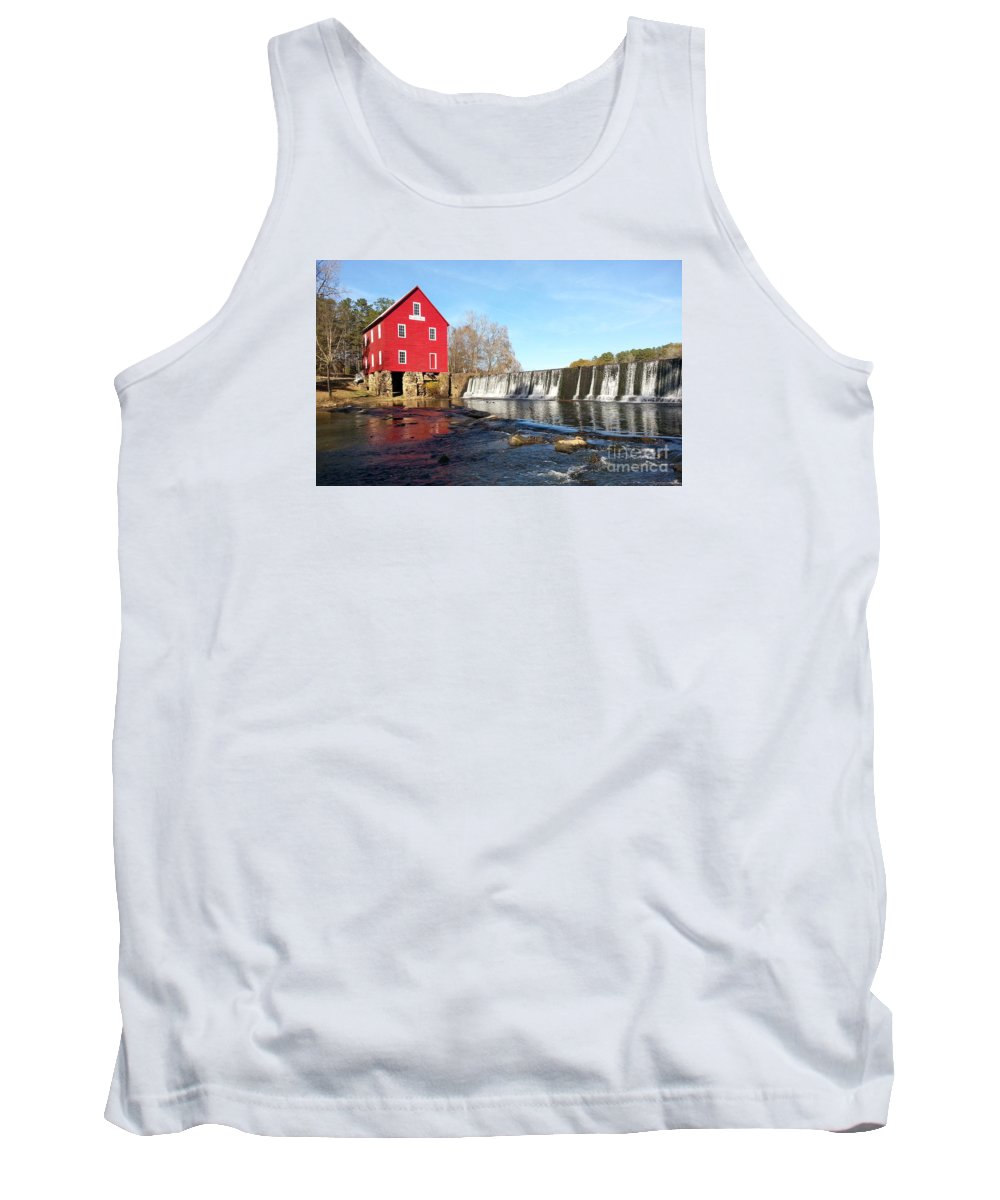Mill Tank Top featuring the photograph Starr's Mill In Senioa Georgia 3 by Donna Brown