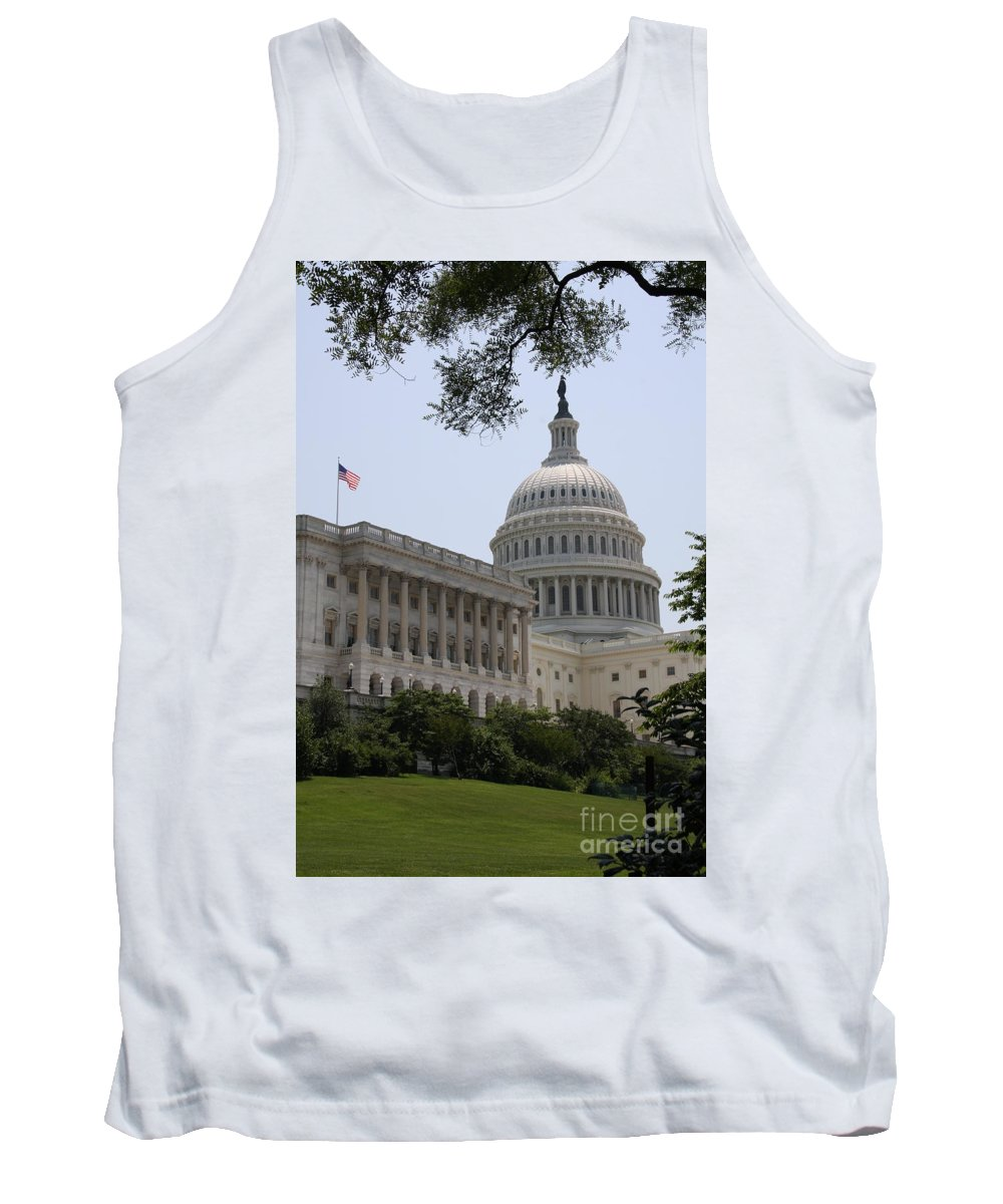 Capitol Tank Top featuring the photograph State Capitol Washington Dc by Christiane Schulze Art And Photography