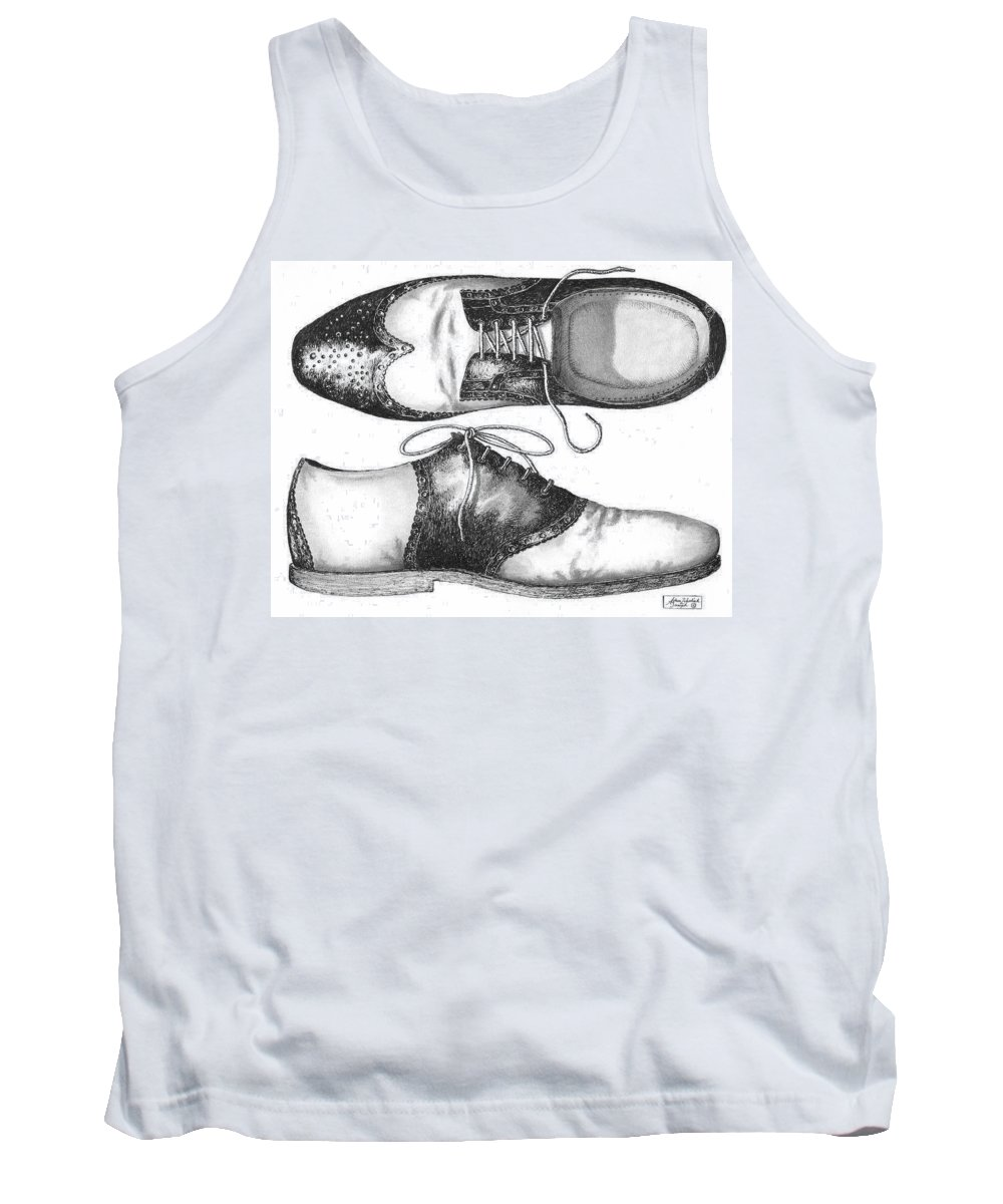 Pen And Ink Drawing Tank Tops