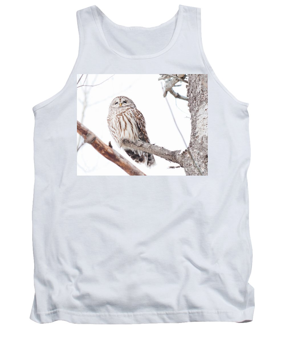 Owls Tank Top featuring the photograph Stoic by Cheryl Baxter