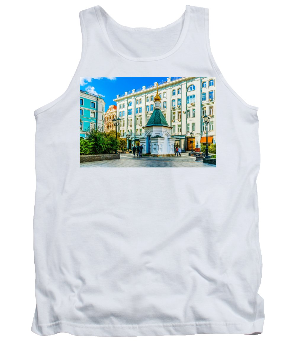 Moscow Tank Top featuring the photograph Stoleshnikov Lane by Alexander Senin