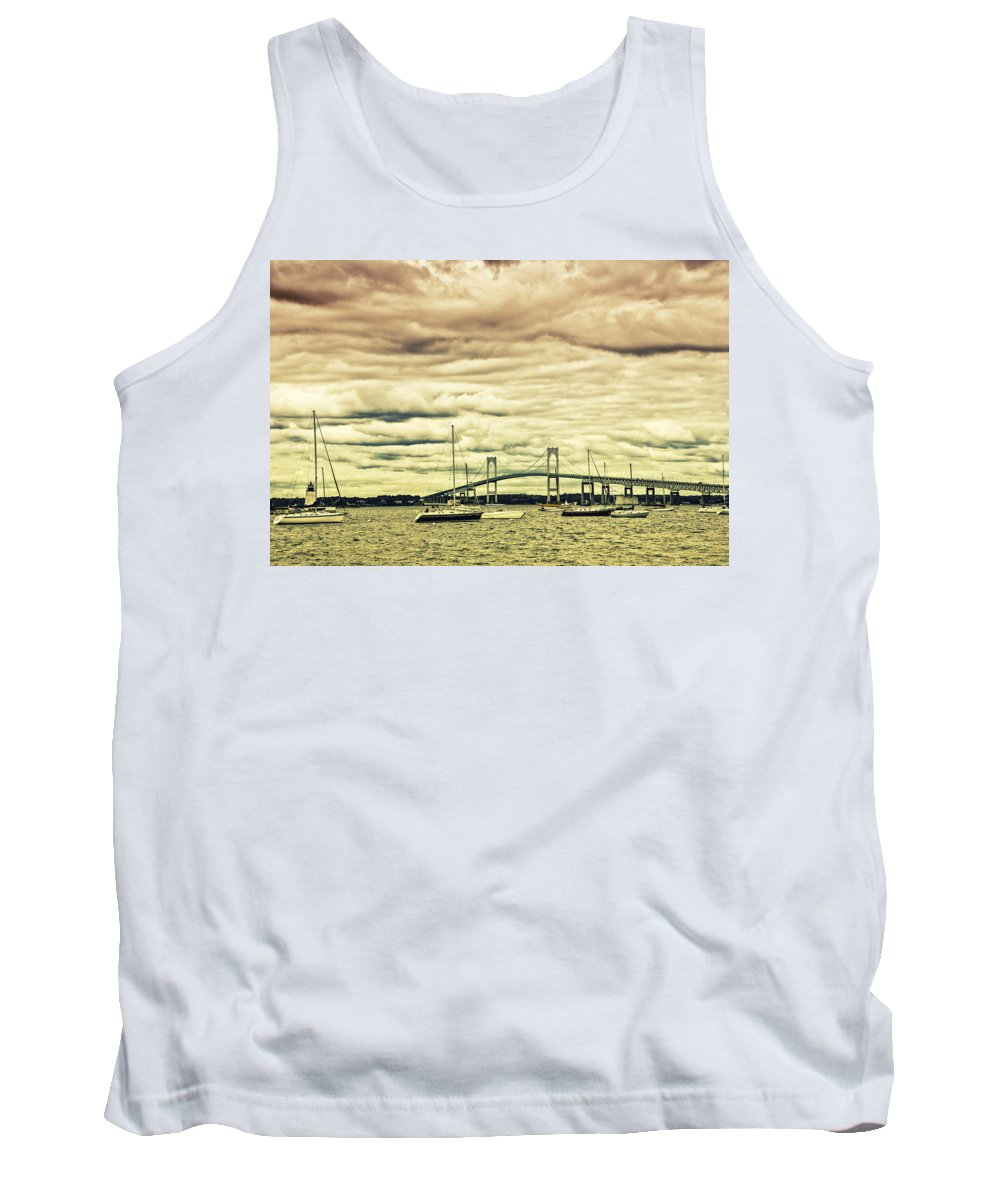 Coastal Tank Top featuring the photograph Storm Brewing In Newport by Karol Livote