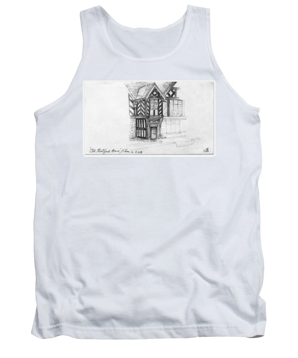 House Tank Top featuring the drawing Stratford House by John Chatterley