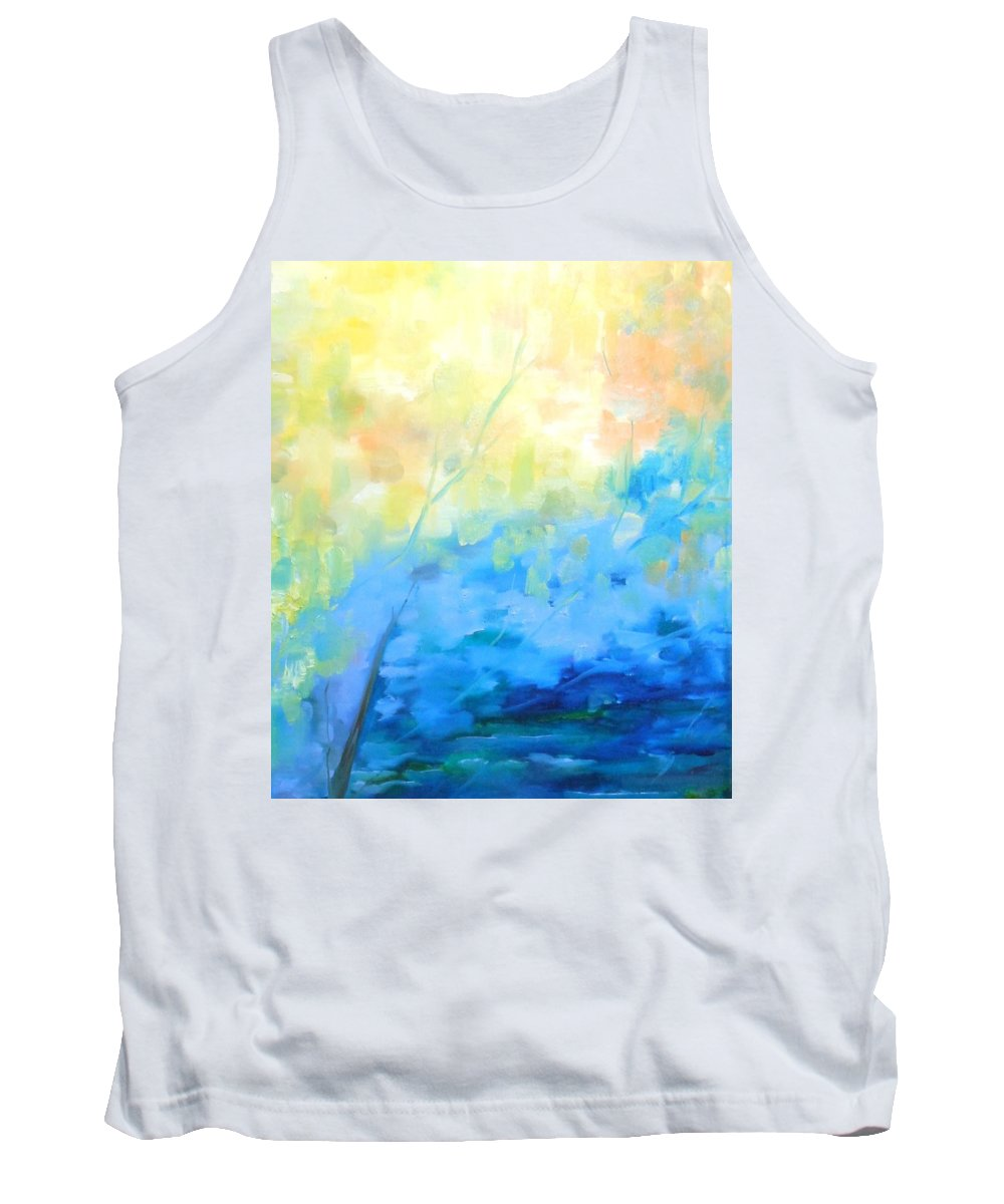 Abstract Tank Top featuring the painting Streams by Lord Frederick Lyle Morris