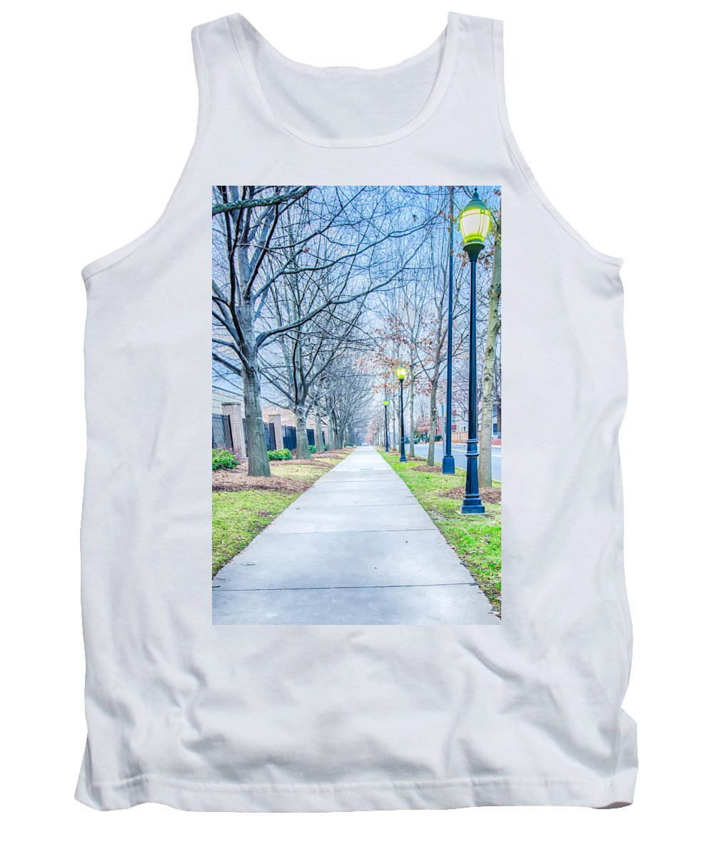 A Walk Tank Top featuring the photograph Street Alley by Alex Grichenko