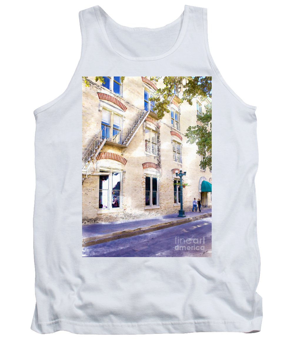 Couple Tank Top featuring the photograph Strolling by Erika Weber