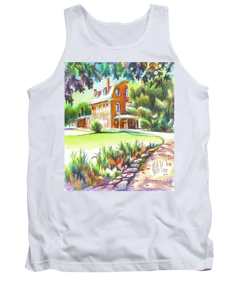 Summertime At Ursuline No C101 Tank Top featuring the painting Summertime At Ursuline No C101 by Kip DeVore
