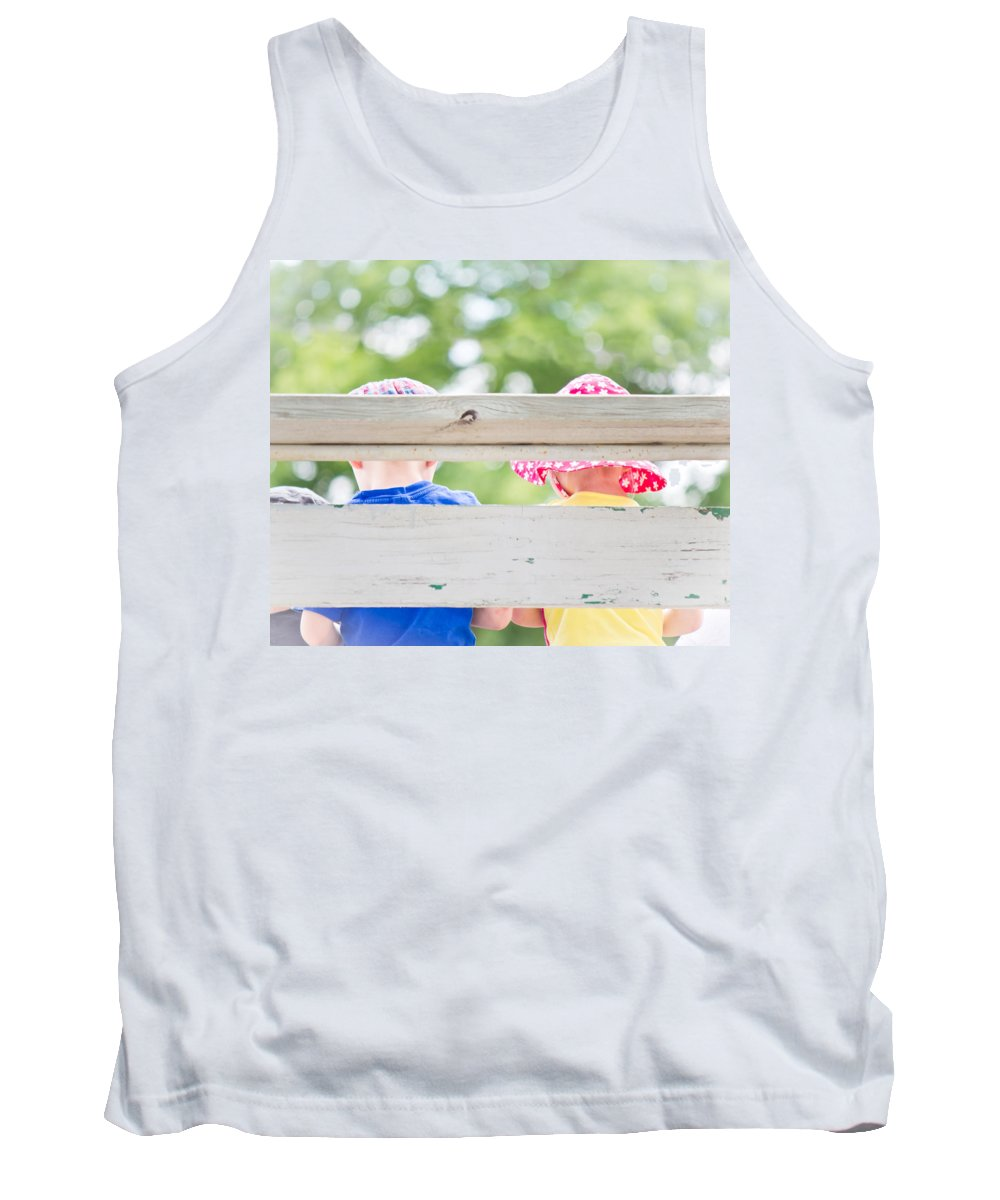 Childhood Tank Top featuring the photograph Summertime Sweetness - Deer Creek Days - Glenrock Wyoming by Diane Mintle