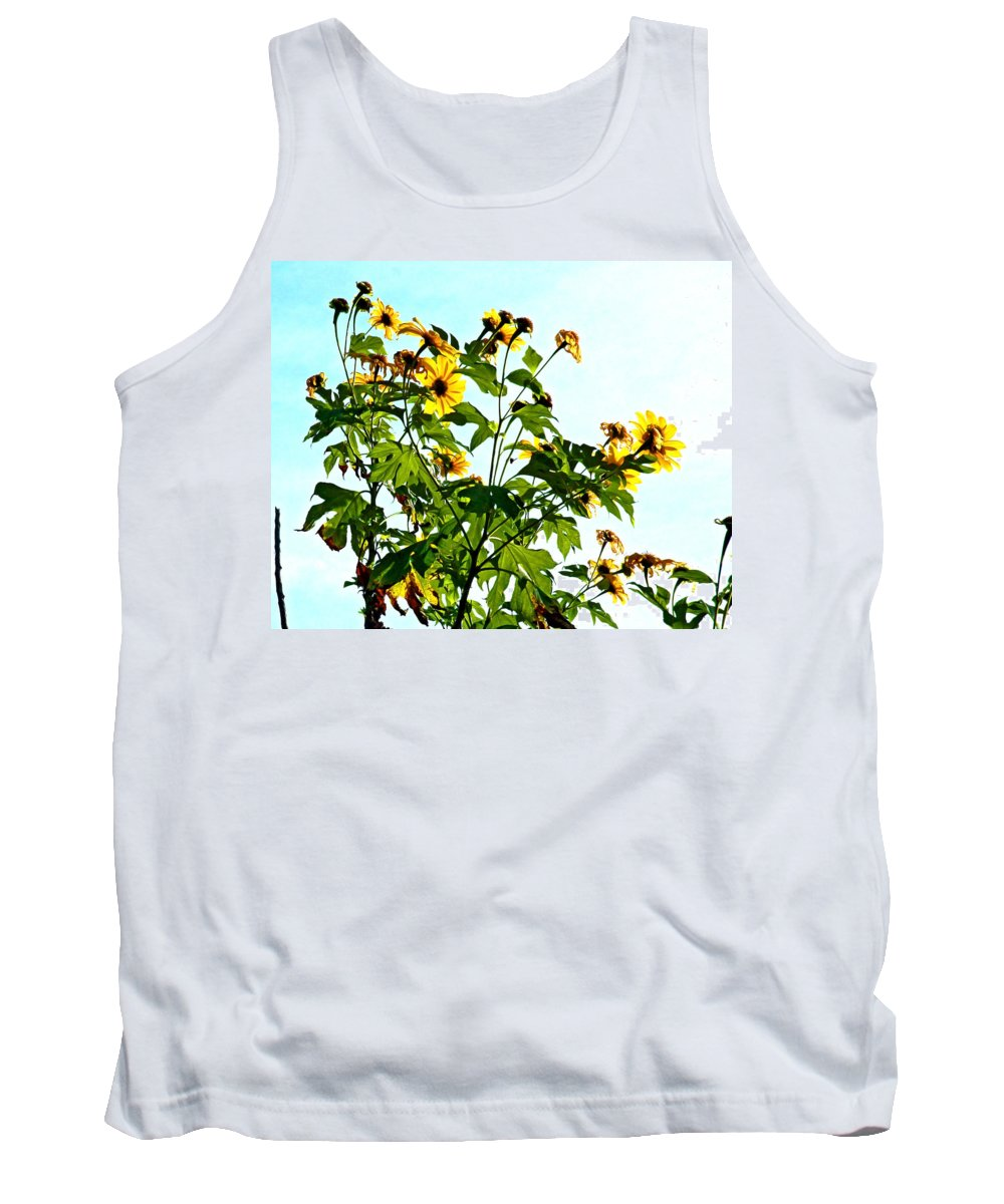 Sun Flower Tank Top featuring the photograph Sun Flowers In The Sun by Norman Johnson