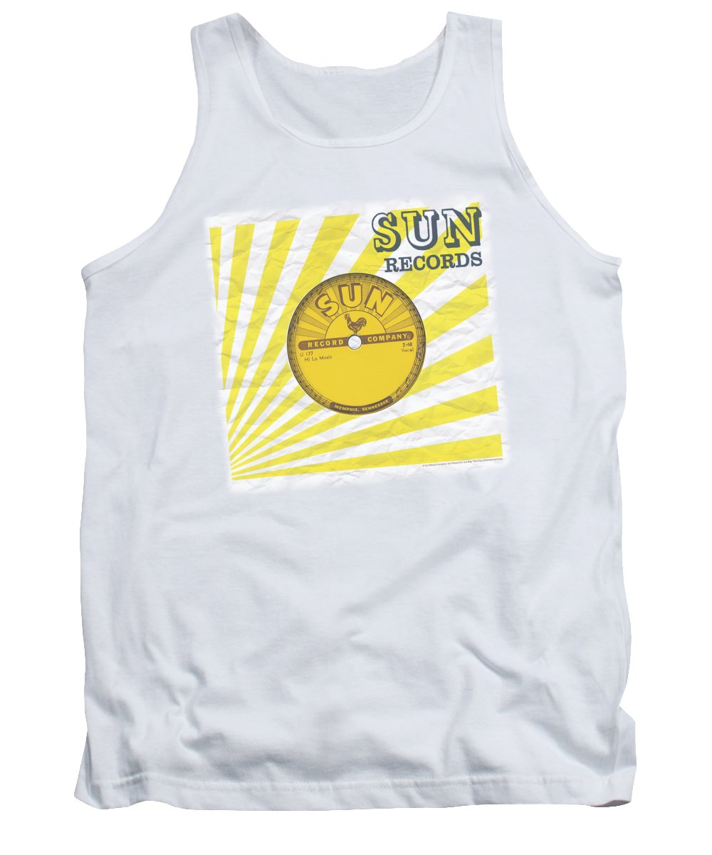 Sun Record Company Tank Top featuring the digital art Sun - Fourty Five by Brand A