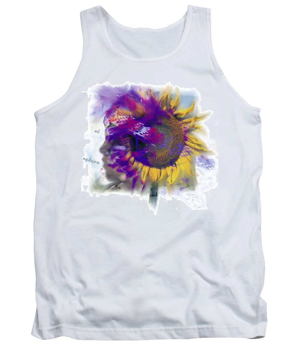 Composite Tank Top featuring the photograph Sunflower Composite by Design Pics Eye Traveller