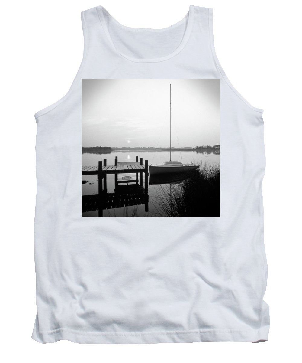 Sail Boat Tank Top featuring the photograph Sunrise Sail Boat by Mike McGlothlen
