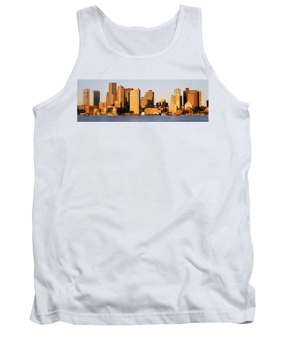 Photography Tank Top featuring the photograph Sunrise, Skyline, Boston by Panoramic Images