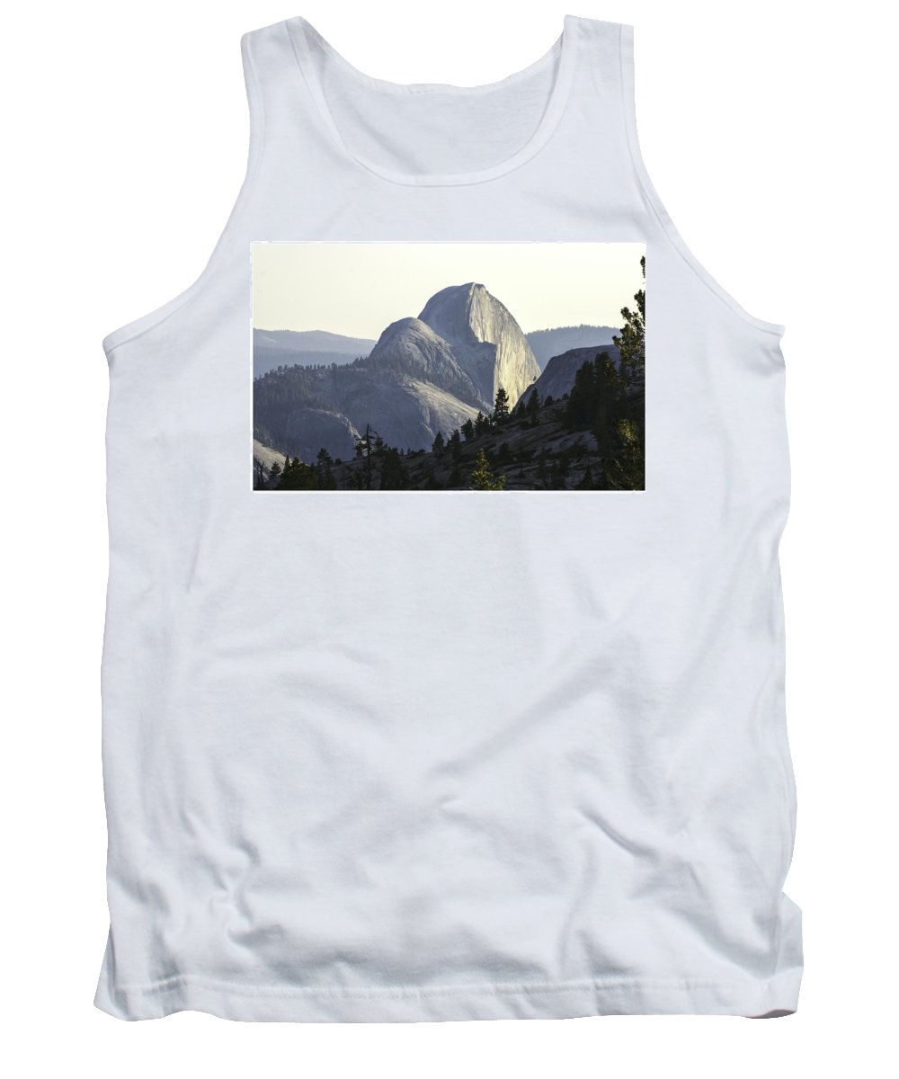 Luxury Tank Top featuring the photograph Sunset At Half Dome From Olmsted Pt by Gene Norris