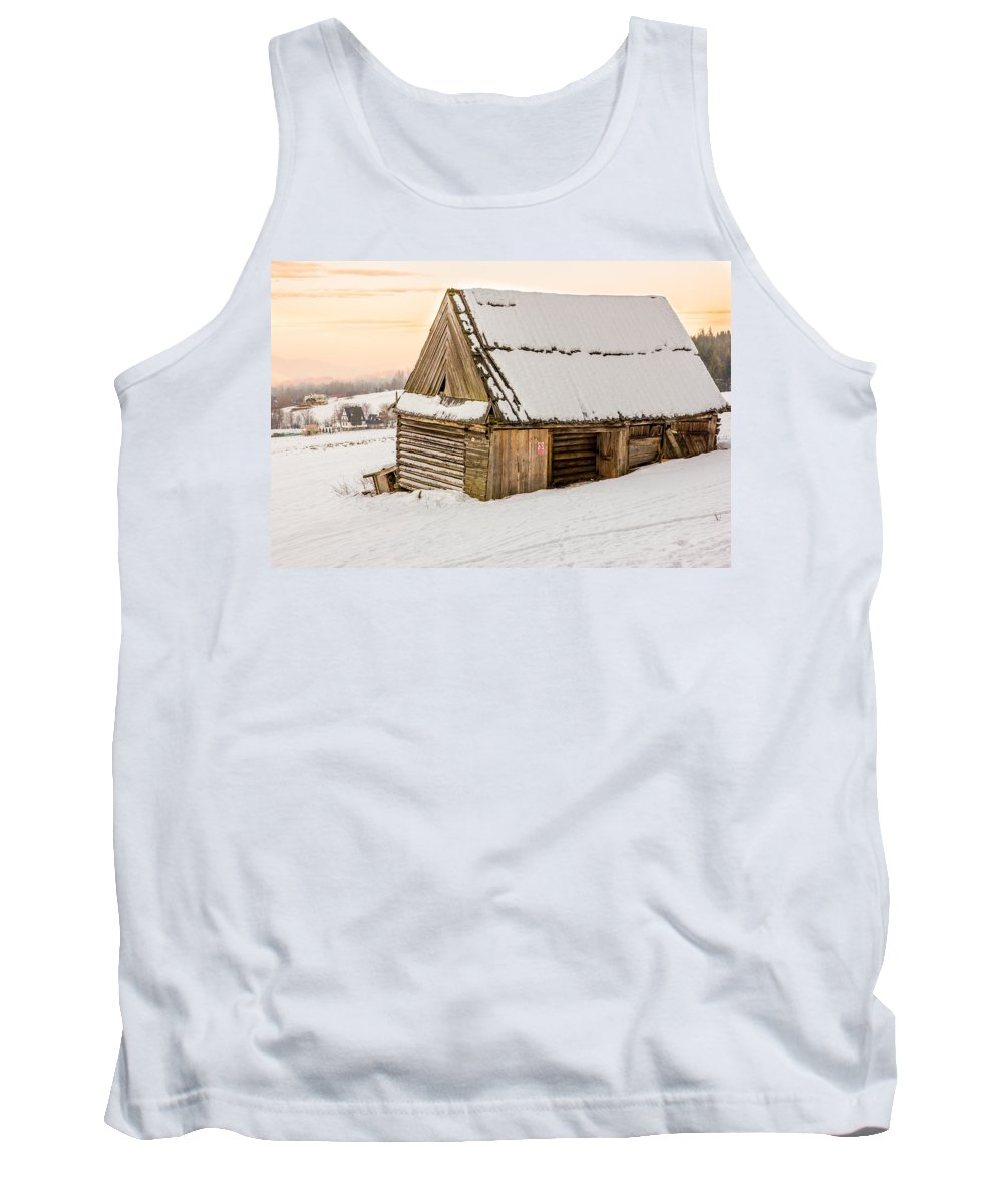 Landscape Tank Top featuring the photograph Sunset Hut by Pati Photography