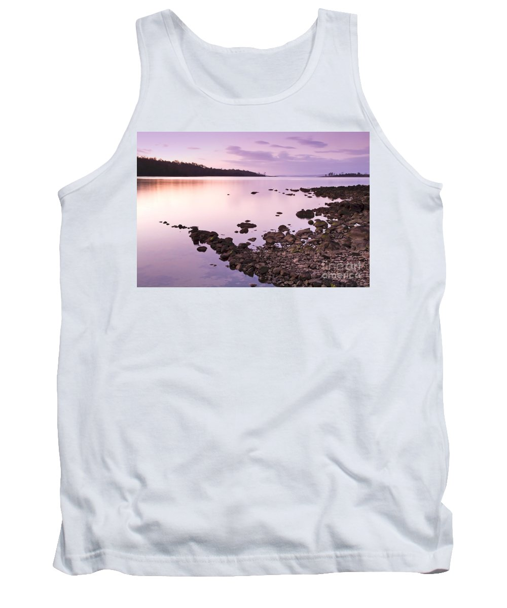 Background Tank Top featuring the photograph Sunset Rocks by Tim Hester
