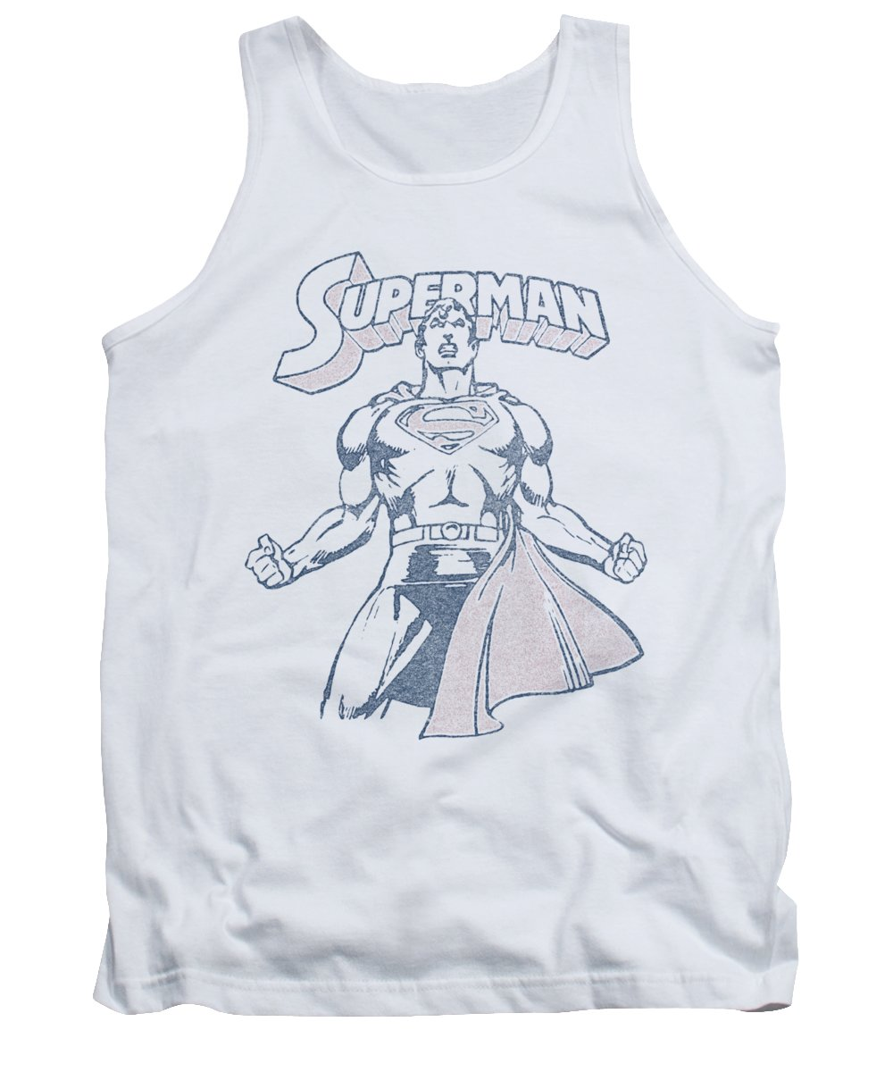 Superman Tank Top featuring the digital art Superman - Get Some by Brand A