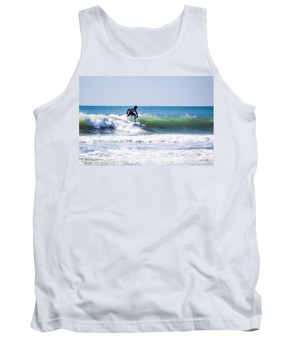 Surf Tank Top featuring the photograph Surf Series 25 by Paula OMalley