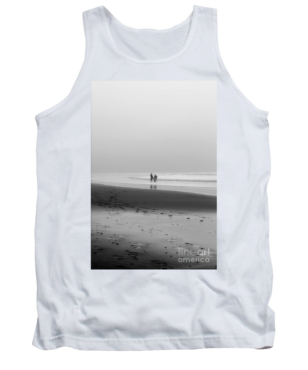 Cornish Tank Top featuring the photograph Surfers In The Mist by Terri Waters