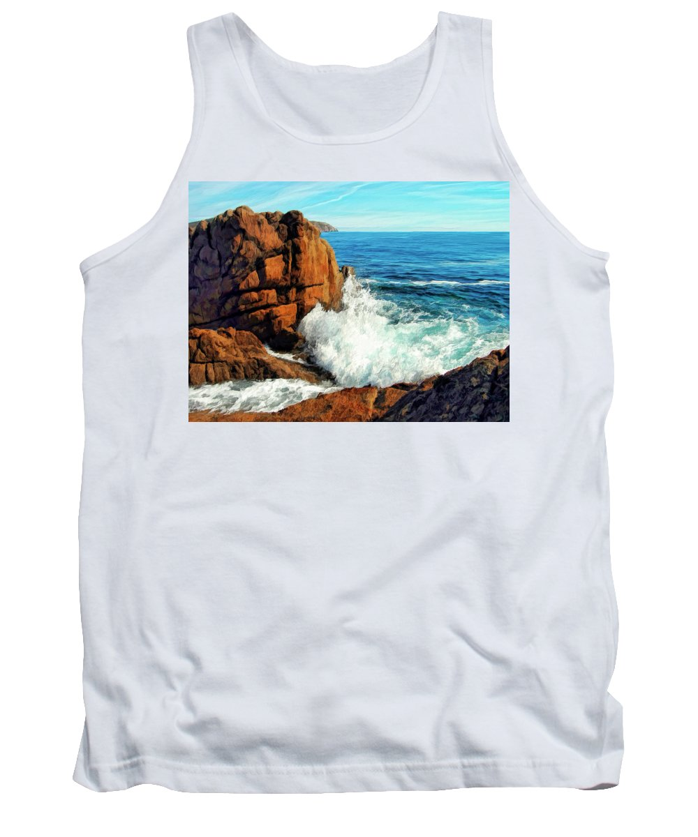 Surge Tank Top featuring the painting Surge by Dominic Piperata