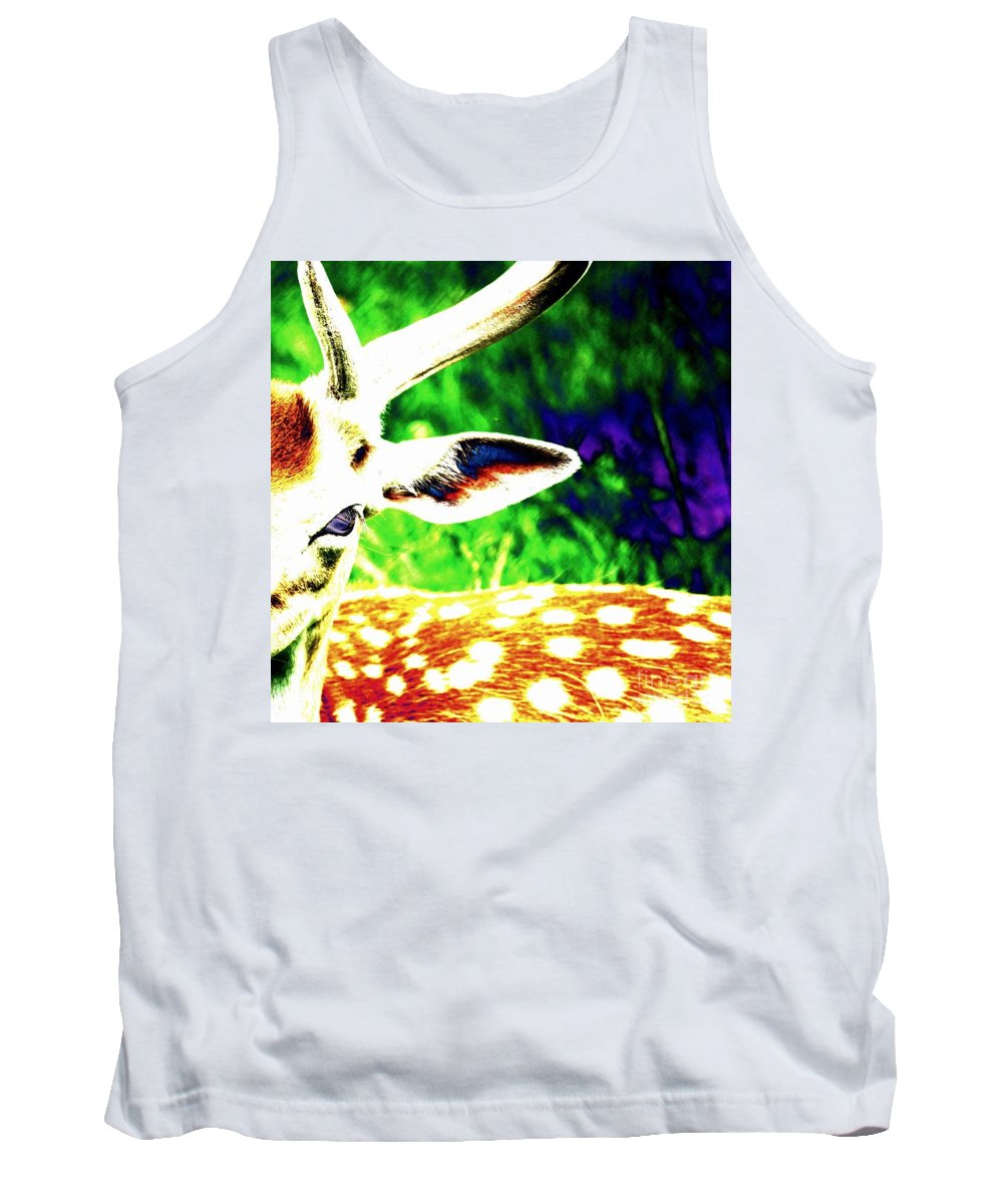 Deer Tank Top featuring the photograph Sweetness by Carol Groenen
