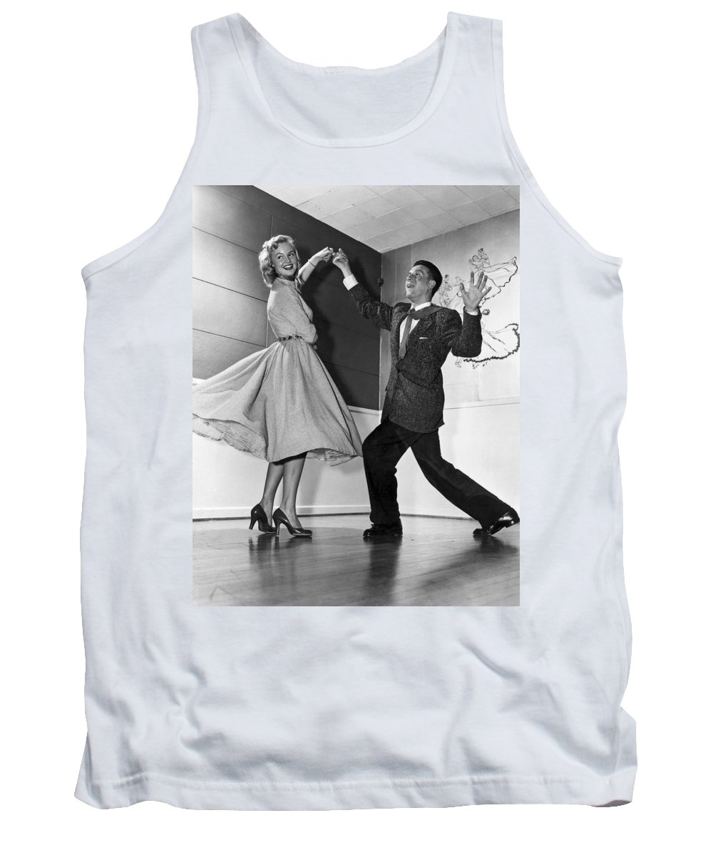 1958 Tank Top featuring the photograph Swing Dancing Couple by Underwood Archives