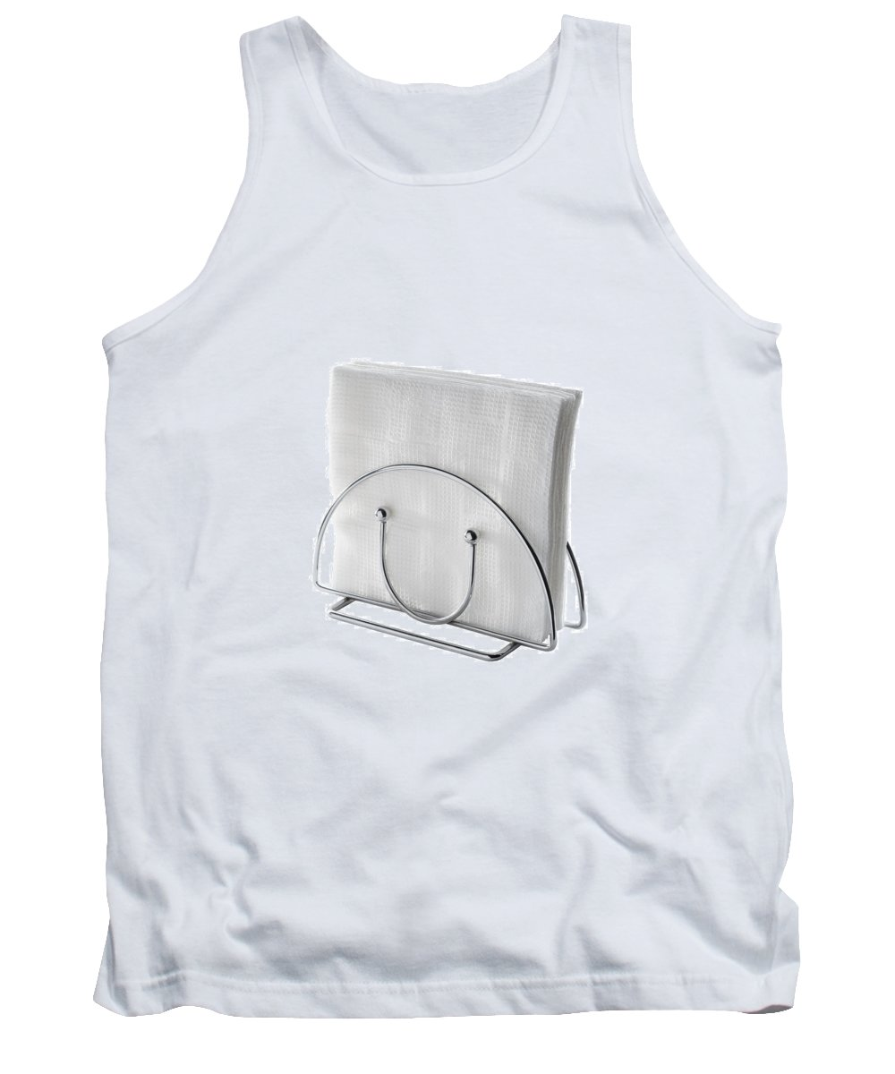 Chrome Tank Top featuring the photograph Table Napkin Holder by Alain De Maximy