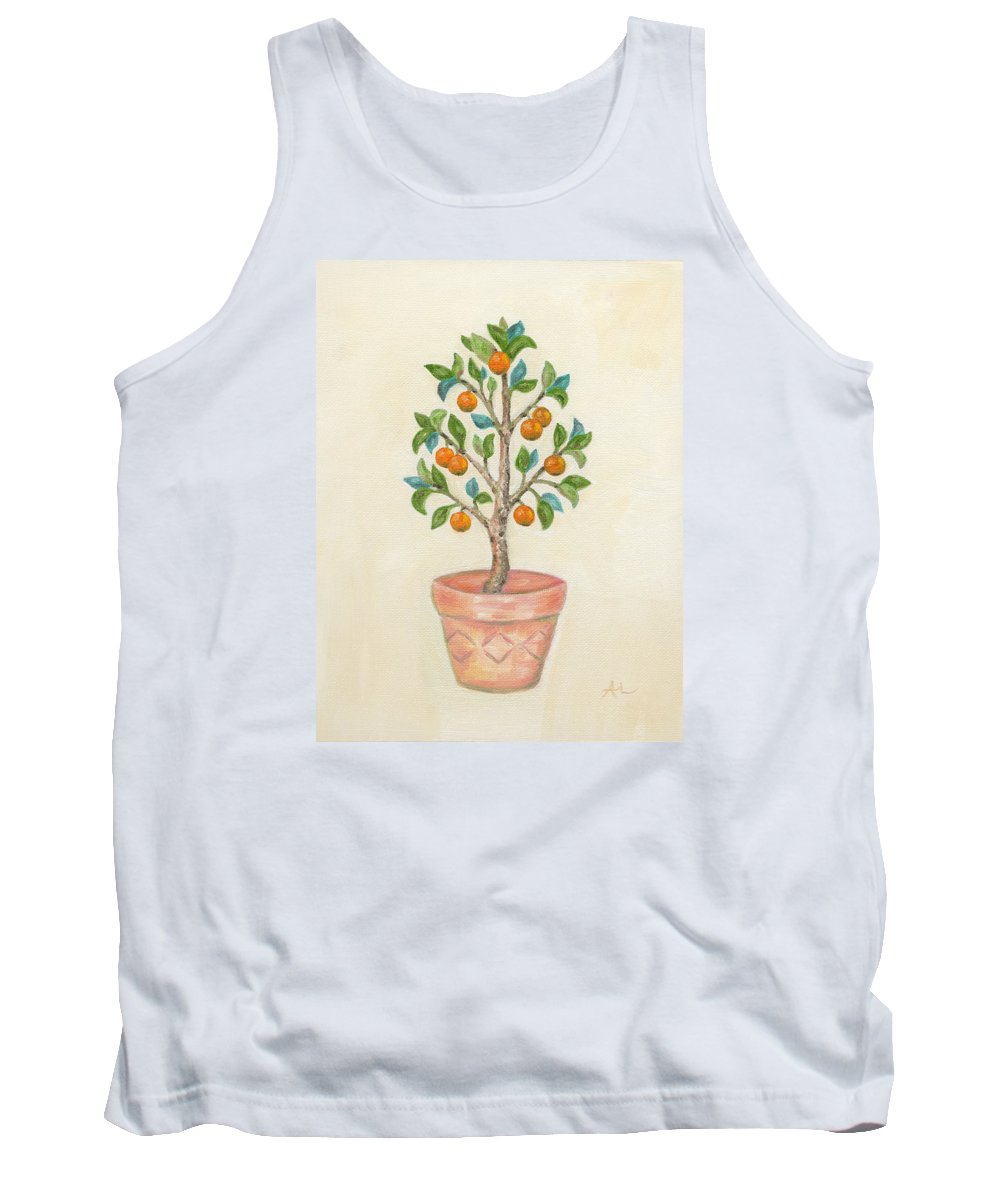 Tangerine Tank Top featuring the painting Tangerine Tree by Annamarie Lombardo