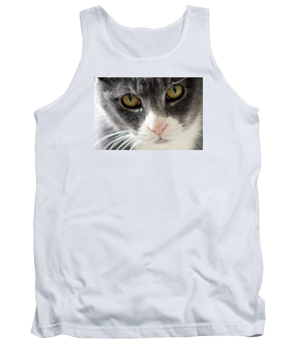 Cat Tank Top featuring the photograph Tears Of A Cat by Wendy Gertz