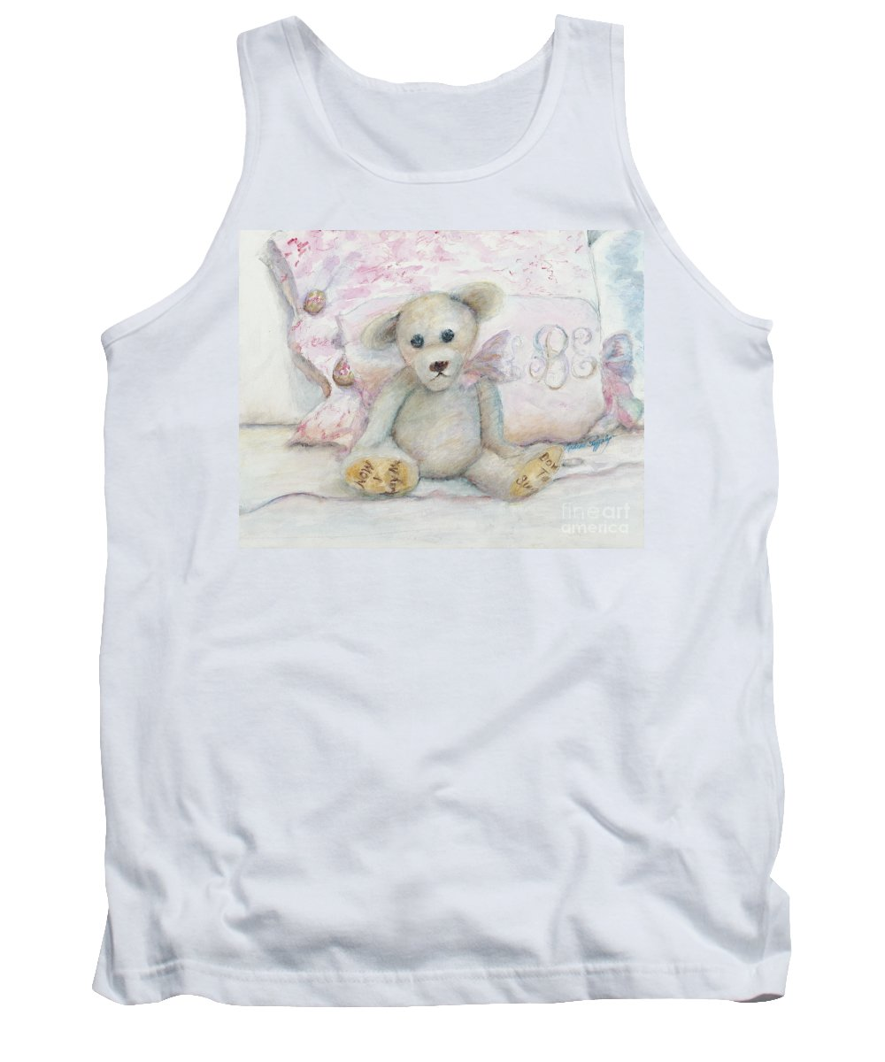 Teddy Bear Tank Top featuring the painting Teddy Friend by Nadine Rippelmeyer