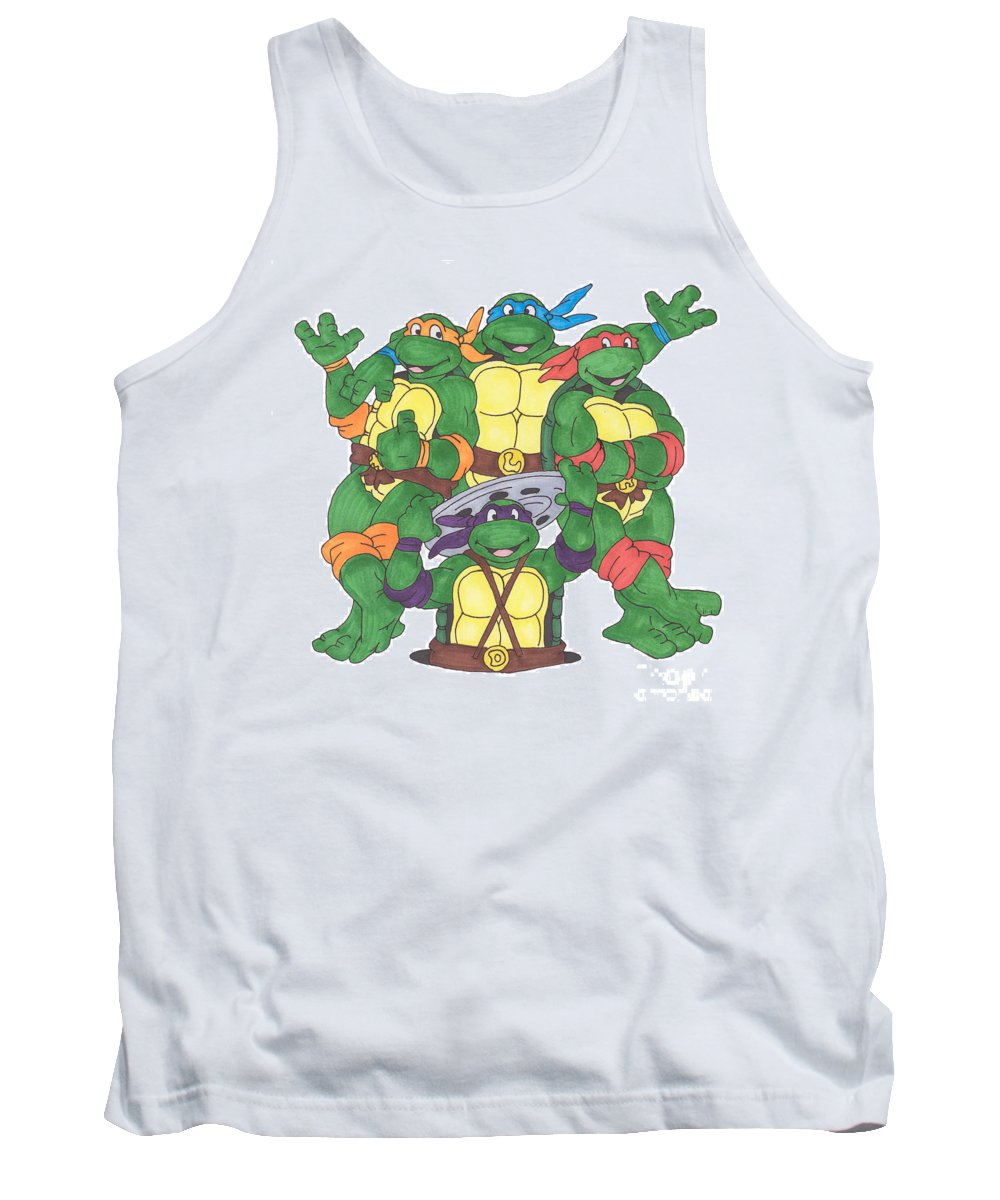 Fanart Tank Top featuring the painting Teenage Mutant Ninja Turtles by Yael Rosen