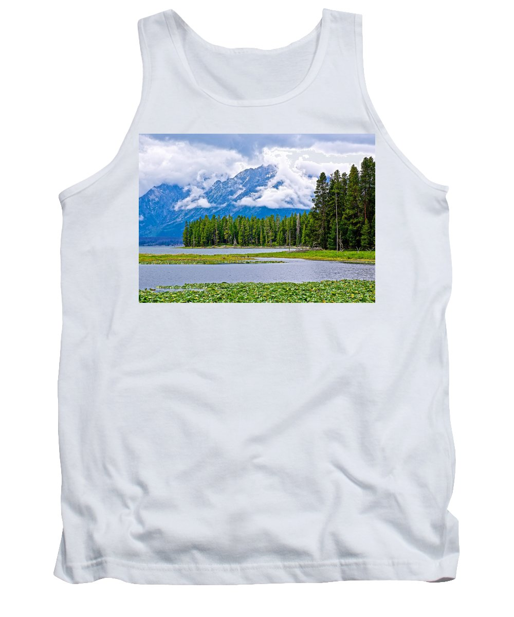 Tetons From Heron Pondl In Grand Teton National Park Tank Top featuring the photograph Tetons From Heron Pond In Grand Teton National Park-wyoming by Ruth Hager
