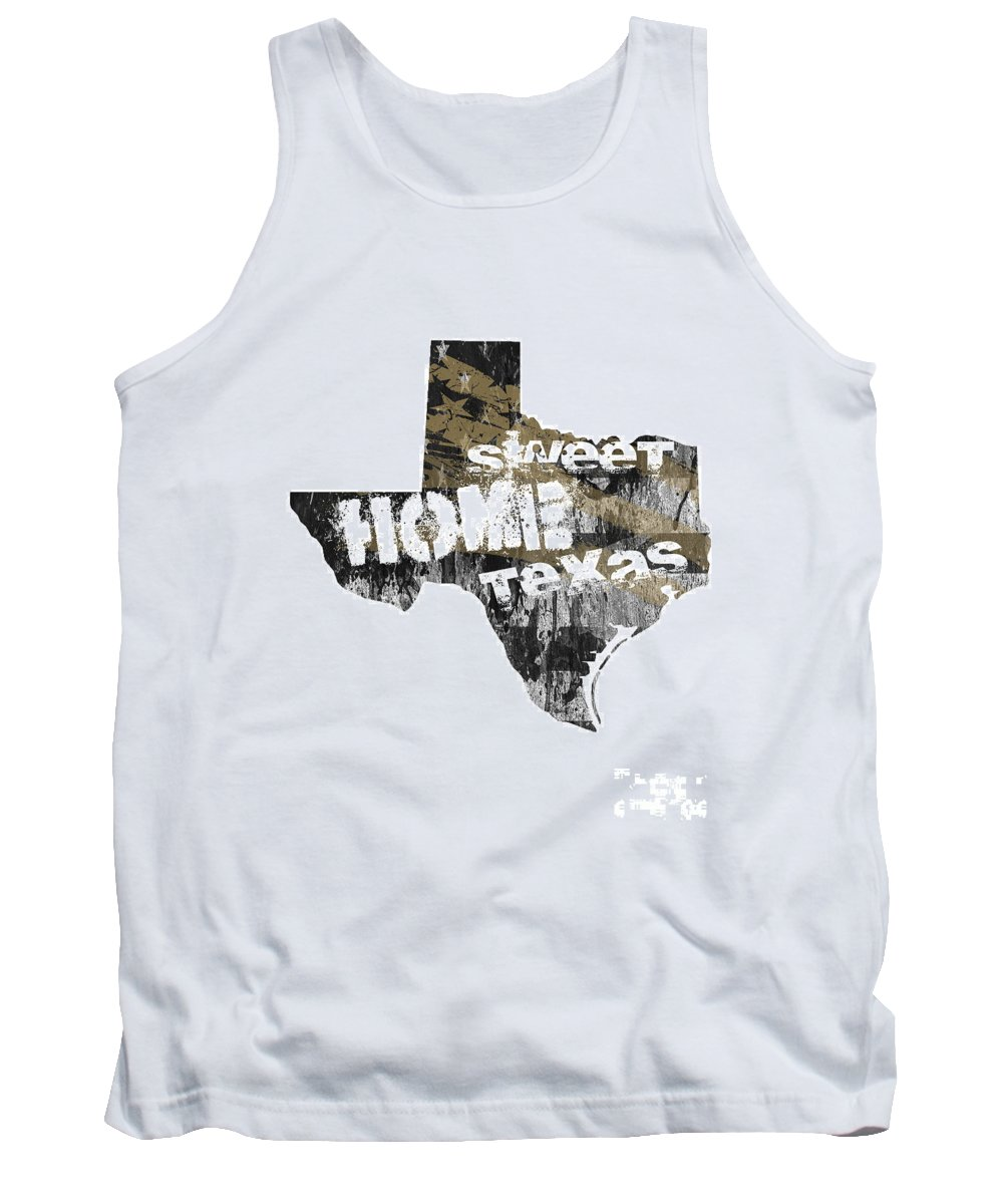 Texas Tank Top featuring the digital art Texas Map Cool by Voros Edit