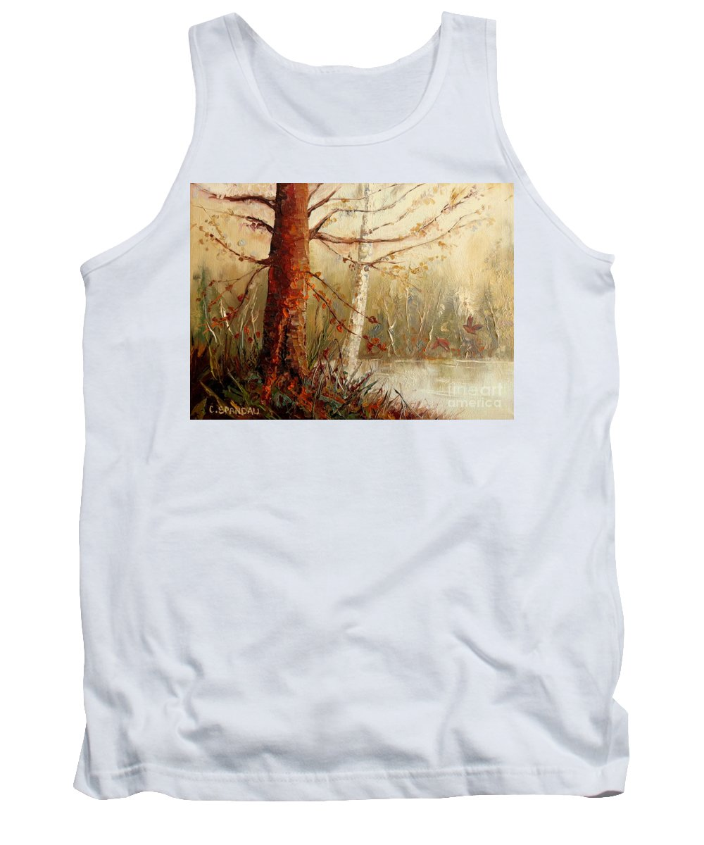 The African Prince Tank Top featuring the painting The African Prince by Carole Spandau
