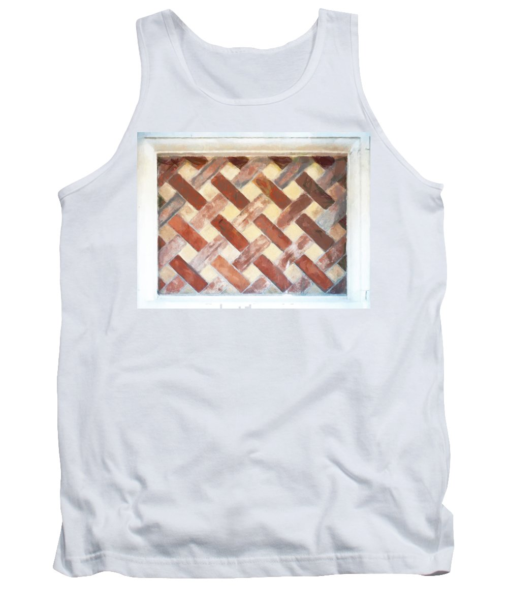 Window Tank Top featuring the photograph The Art Of Brick Weaving by Steve Taylor
