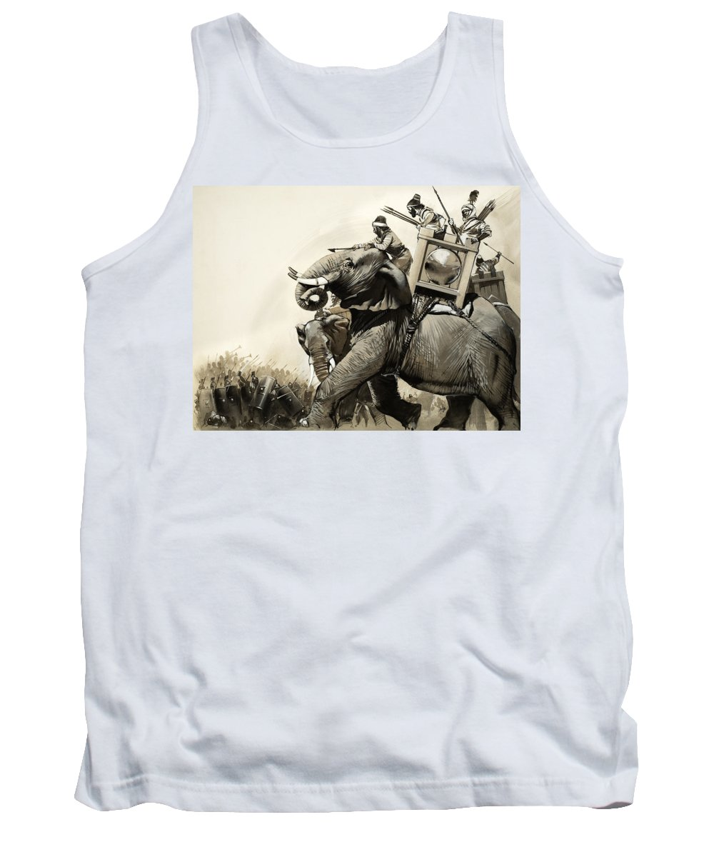 Roman Tank Top featuring the painting The Battle Of Zama In 202 Bc by Angus McBride